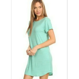 NWT striped Tshirt dress. Nadine west